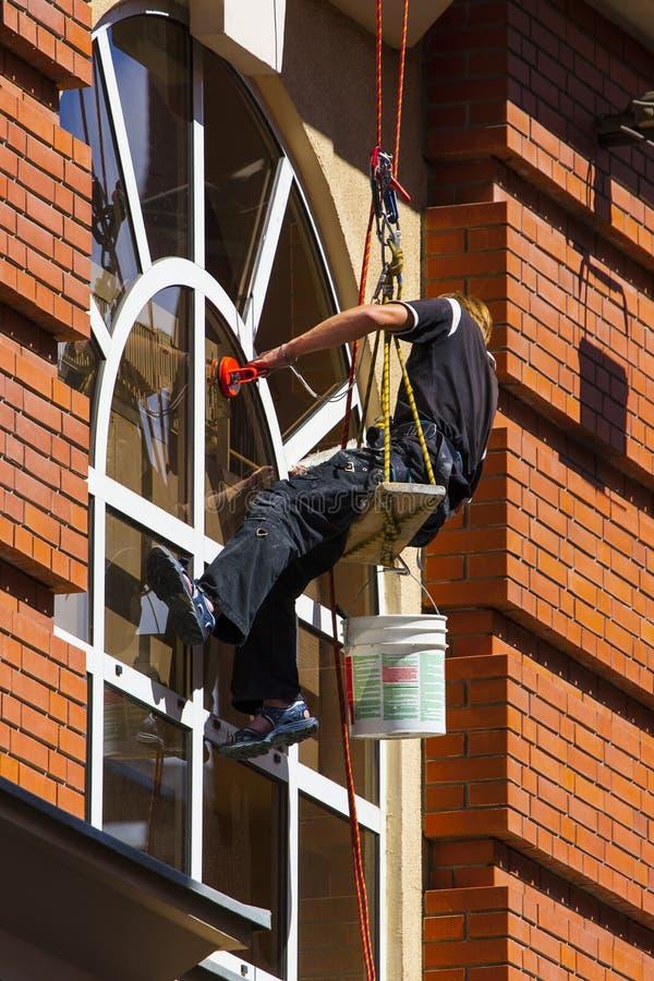 Fönsterrengöringsmedel arkivbild