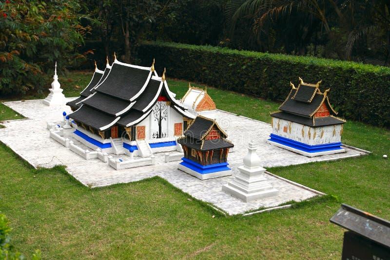 Fönstret av världen är en miniatyrstad som lokaliseras i Shenzhen, Kina royaltyfri bild