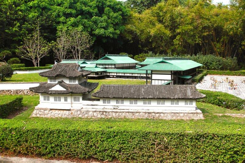 Fönstret av världen är en miniatyrstad som lokaliseras i Shenzhen, Kina royaltyfria bilder
