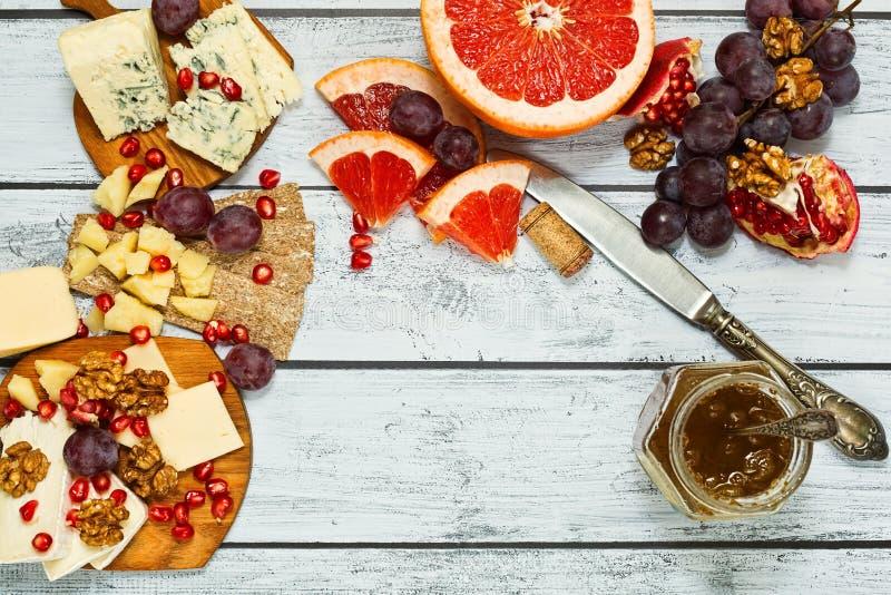 Förädlat ostmellanmål, bästa sikt royaltyfri fotografi