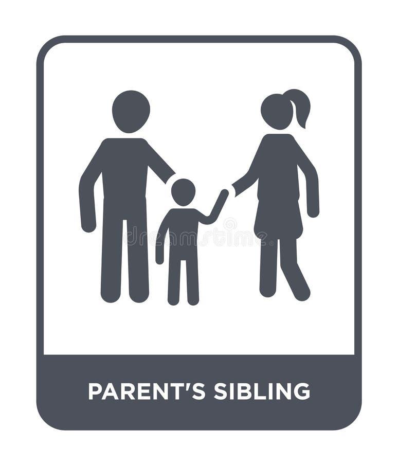 förälders siblingsymbol i moderiktig designstil förälders siblingsymbol som isoleras på vit bakgrund förälders symbol för sibling vektor illustrationer