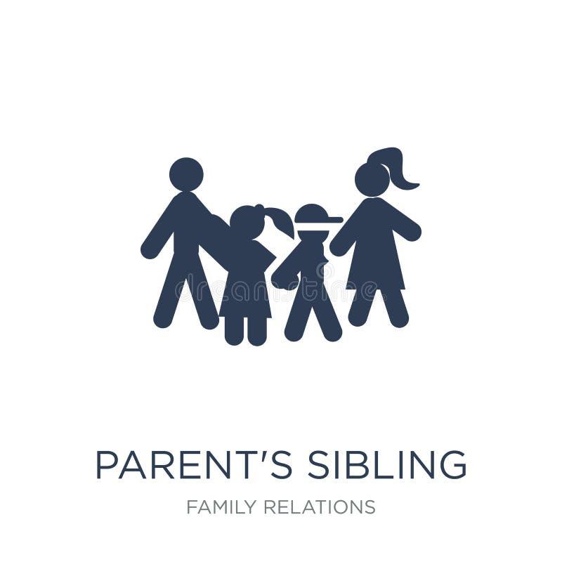 förälders siblingsymbol Moderiktig plan vektorförälders symbol för sibling royaltyfri illustrationer