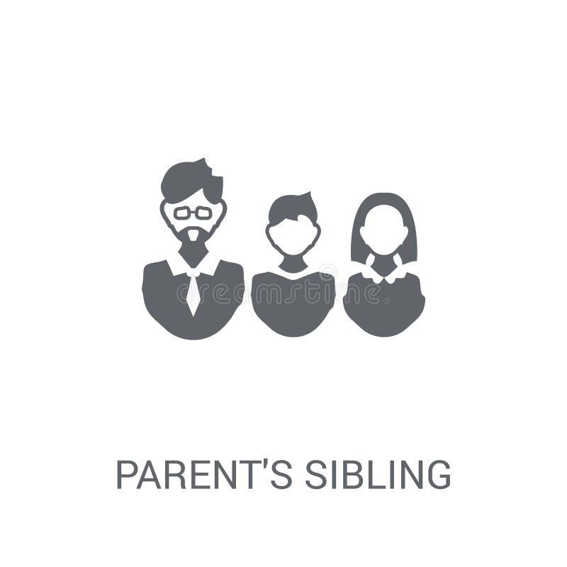 förälders siblingsymbol Moderiktigt förälders begrepp för siblinglogo på w royaltyfri illustrationer