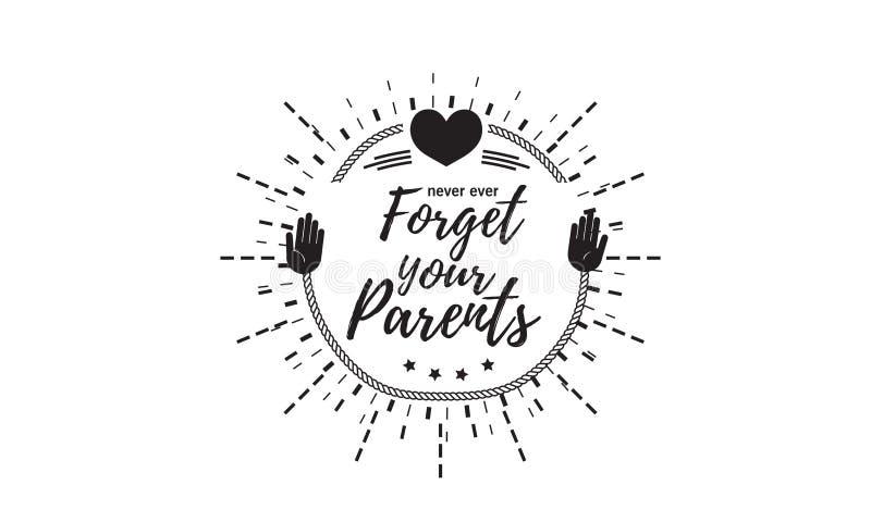 föräldrar stock illustrationer