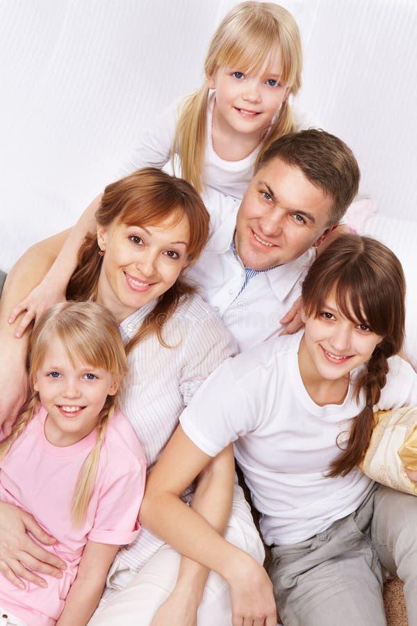 Föräldrar och ungar royaltyfri foto