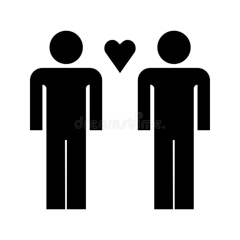 Förälskad grabbsymbol stock illustrationer