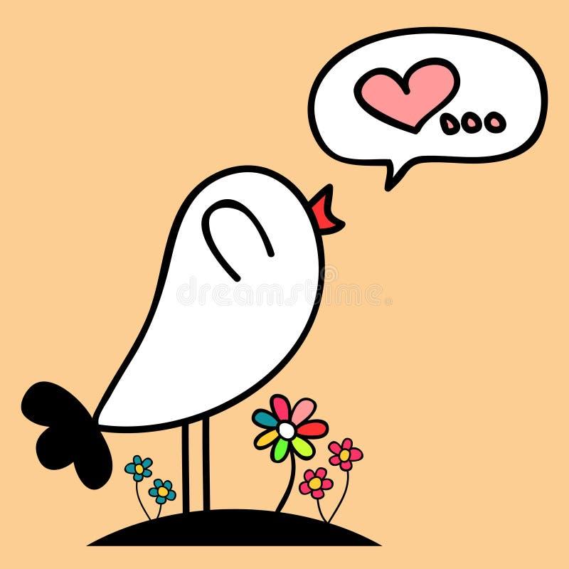 Förälskad gullig fågel vektor illustrationer