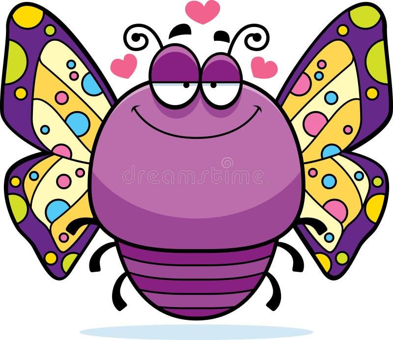 Förälskad liten fjäril royaltyfri illustrationer