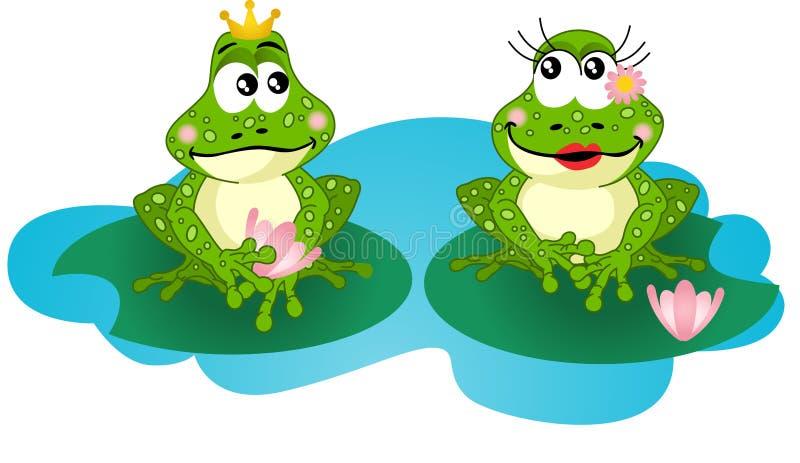 Förälskade grodor vektor illustrationer