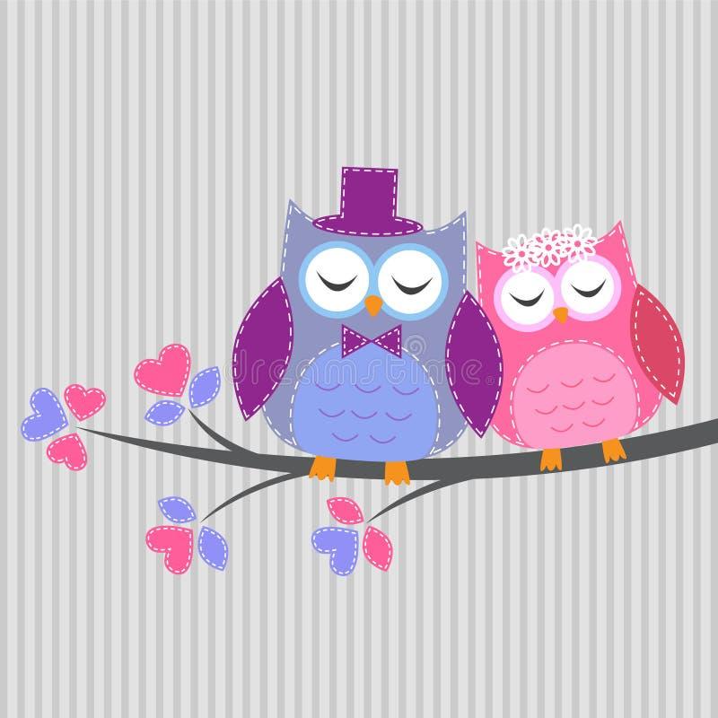 Förälskade parowls royaltyfri illustrationer