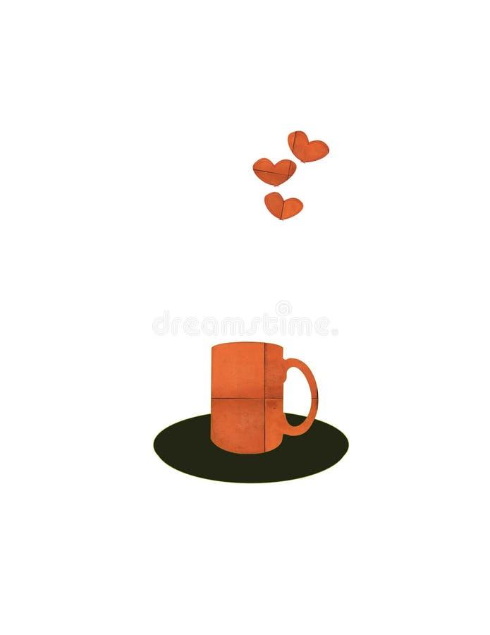Förälskat med kaffe arkivbild