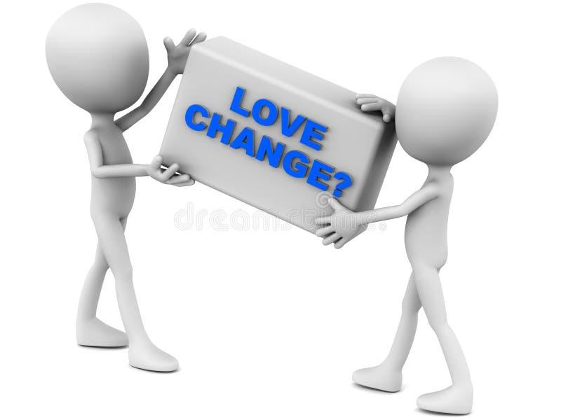 Förälskelseändring stock illustrationer