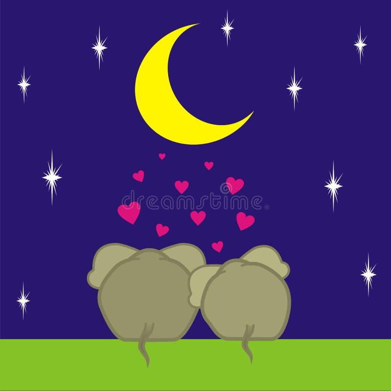 förälskelse 2 stock illustrationer