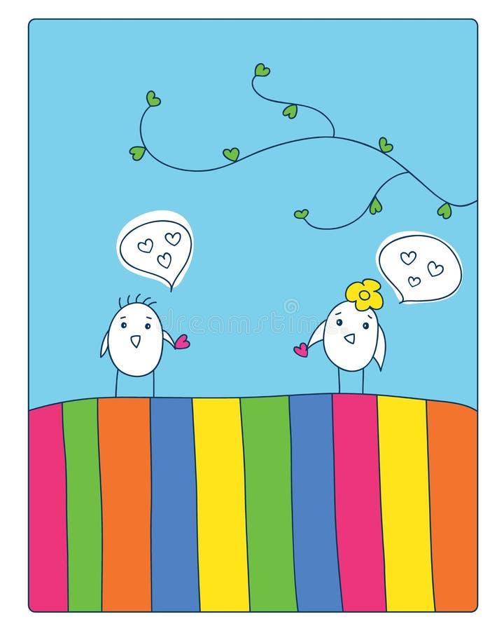 Förälskelse vektor illustrationer