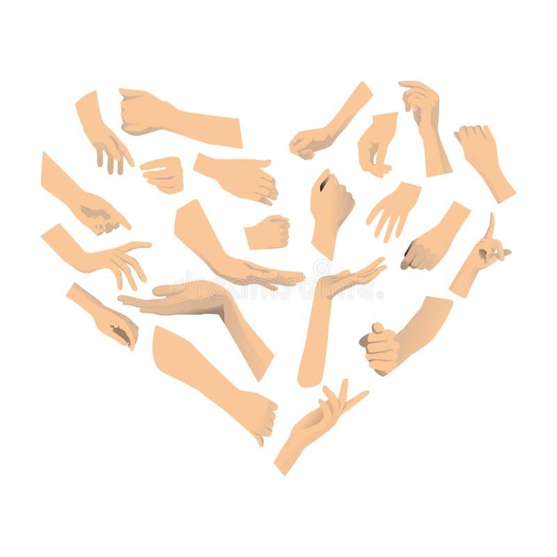 Download Förälskelse av handen vektor illustrationer. Illustration av näve - 27288656