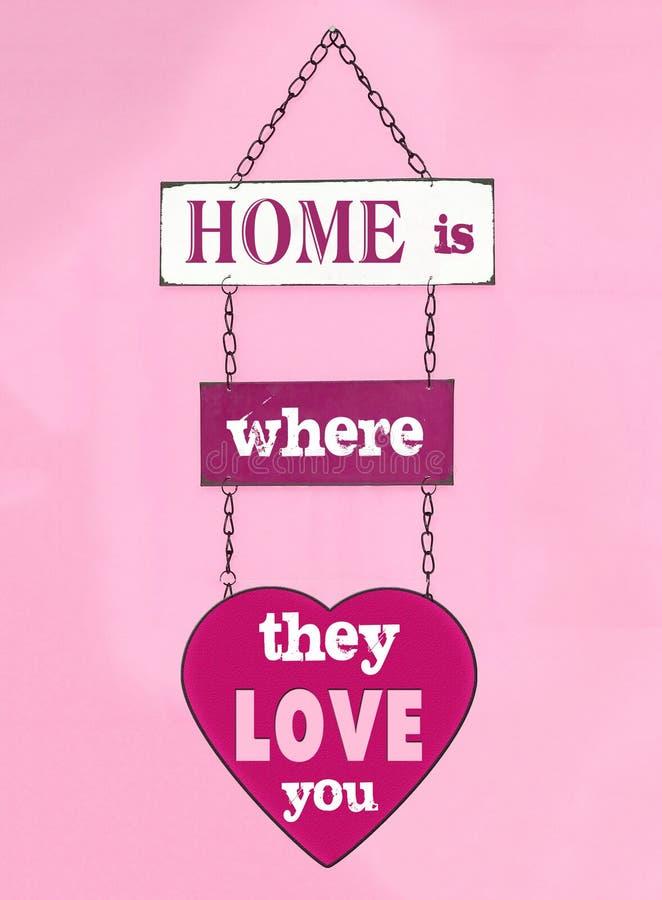 Förälskelse dig som är hem- arkivfoto