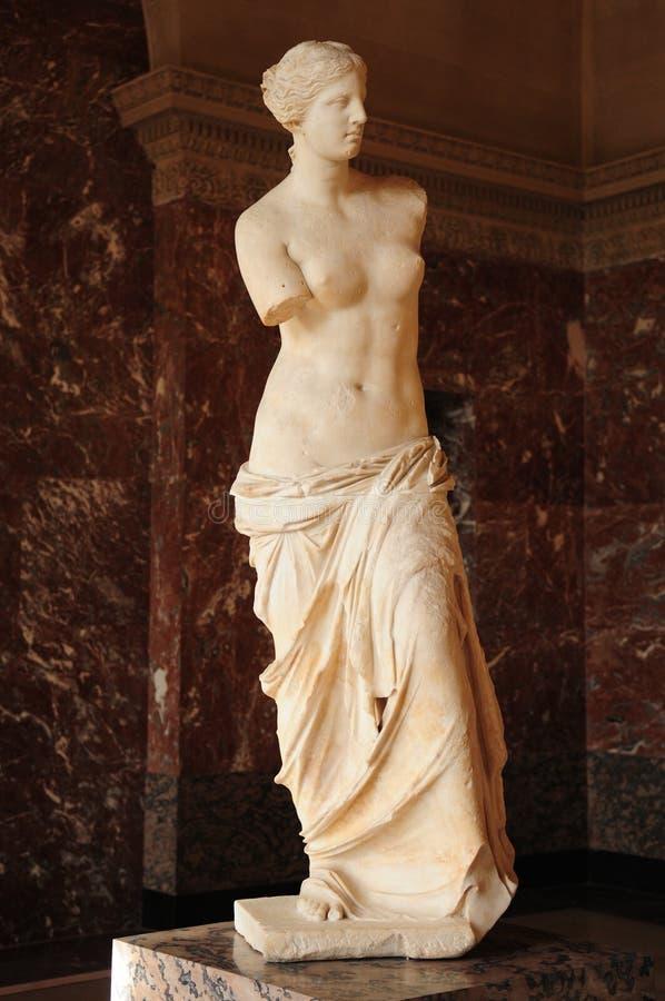 förälskelse för handen för den forntida kopia de teckning för aphroditeskönhetcasten gudinnan gjorde grekisk miloen milos att rap arkivbild