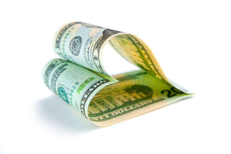 Förälskelse för pengar arkivfoton