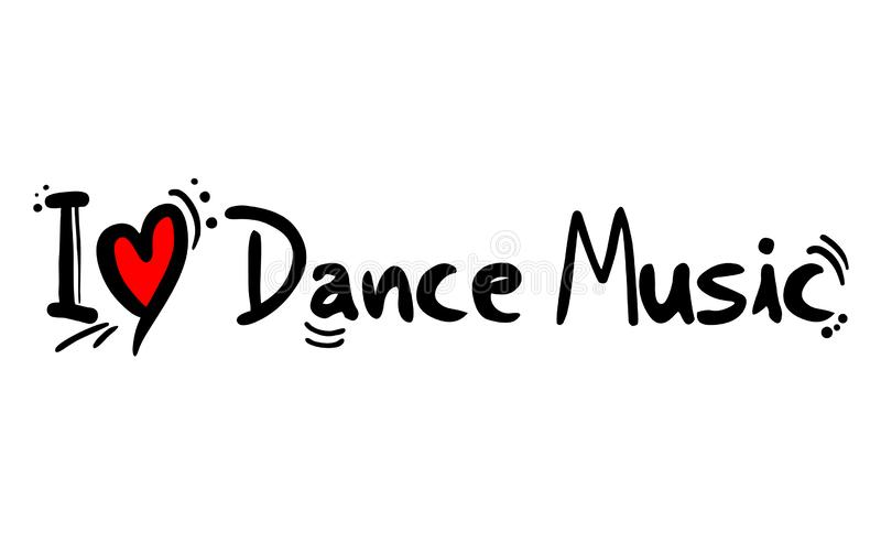 Förälskelse för stil för dansmusik vektor illustrationer