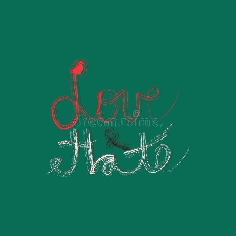 Förälskelse & hat stock illustrationer