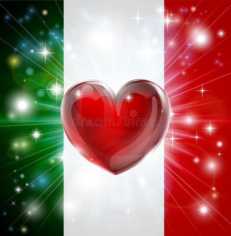 Förälskelse Italien sjunker hjärtabakgrund stock illustrationer