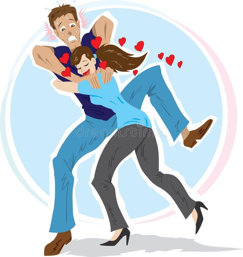 förälskelse kväv stock illustrationer