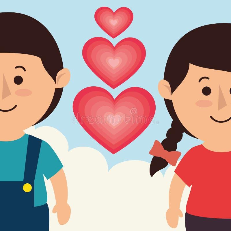 Förälskelse- och valentindag royaltyfri illustrationer