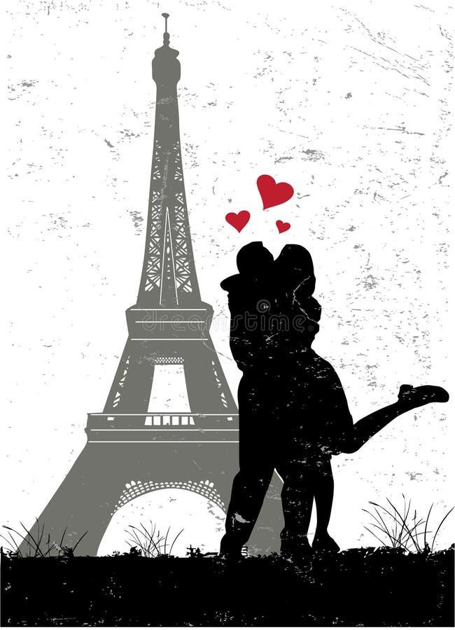 förälskelse paris vektor illustrationer
