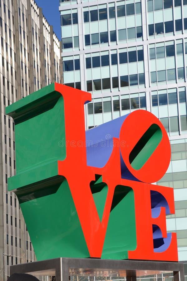 Förälskelse parkerar Philadelphia arkivbilder