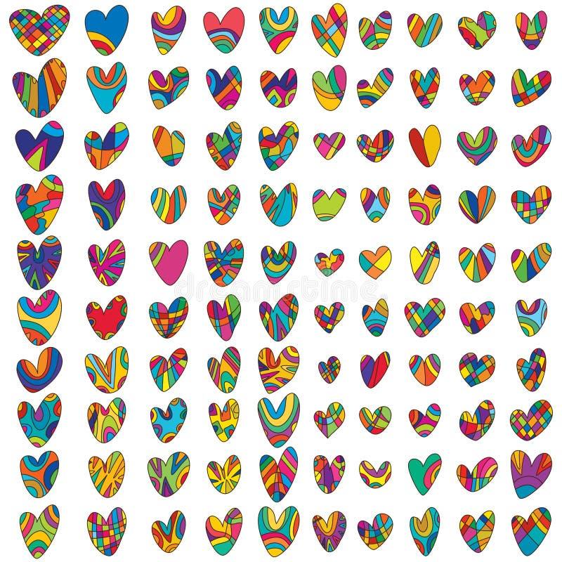 Förälskelse som drar uppsättningen vektor illustrationer
