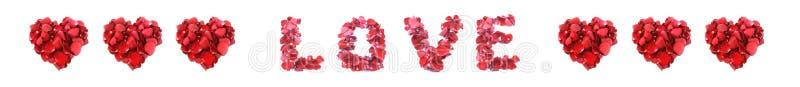 Förälskelse som göras av den isolerade rosen på vit bakgrund fotografering för bildbyråer