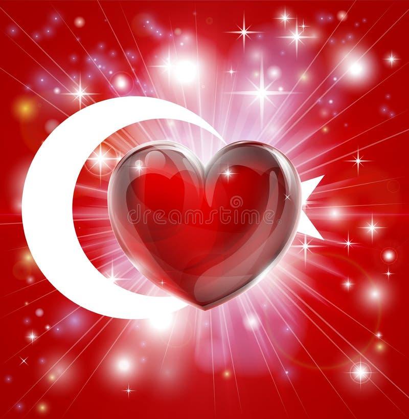 Förälskelse Turkiet sjunker hjärtabakgrund stock illustrationer