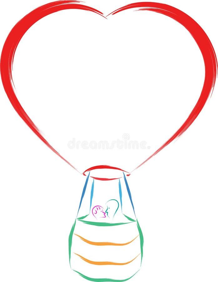 Förälskelseballong vektor illustrationer