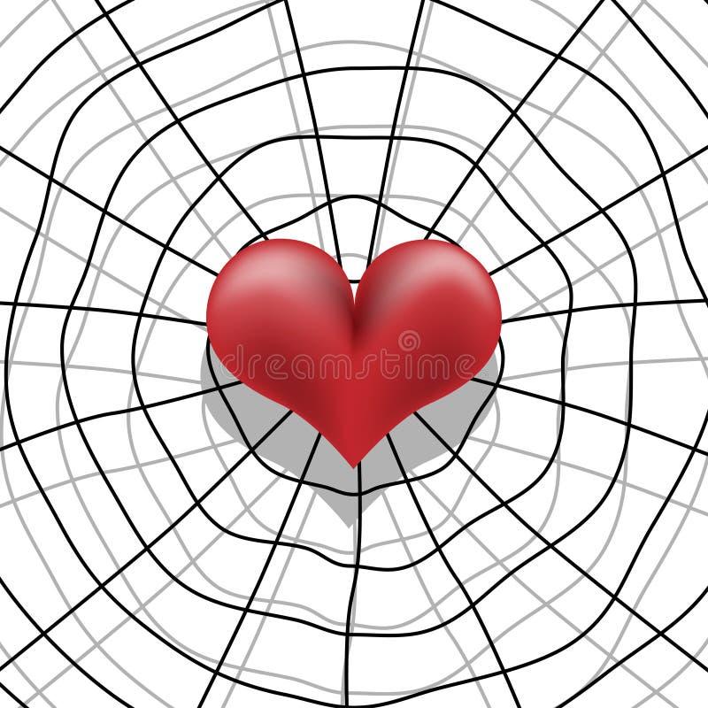 förälskelseblockering stock illustrationer