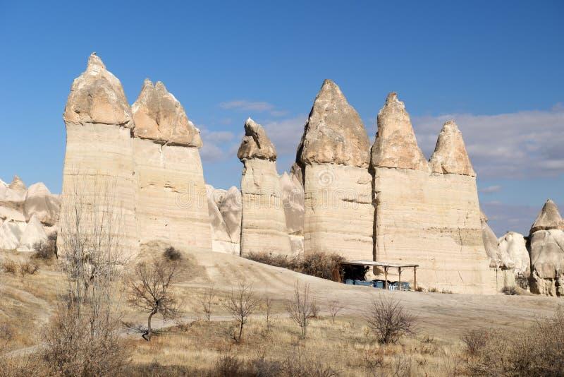 Förälskelsedal, Goreme region, Turkiet arkivbilder