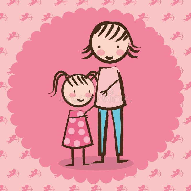 Förälskelsedesign royaltyfri illustrationer