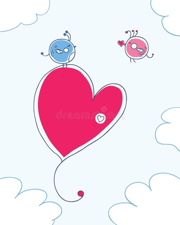 Förälskelsefåglar vektor illustrationer