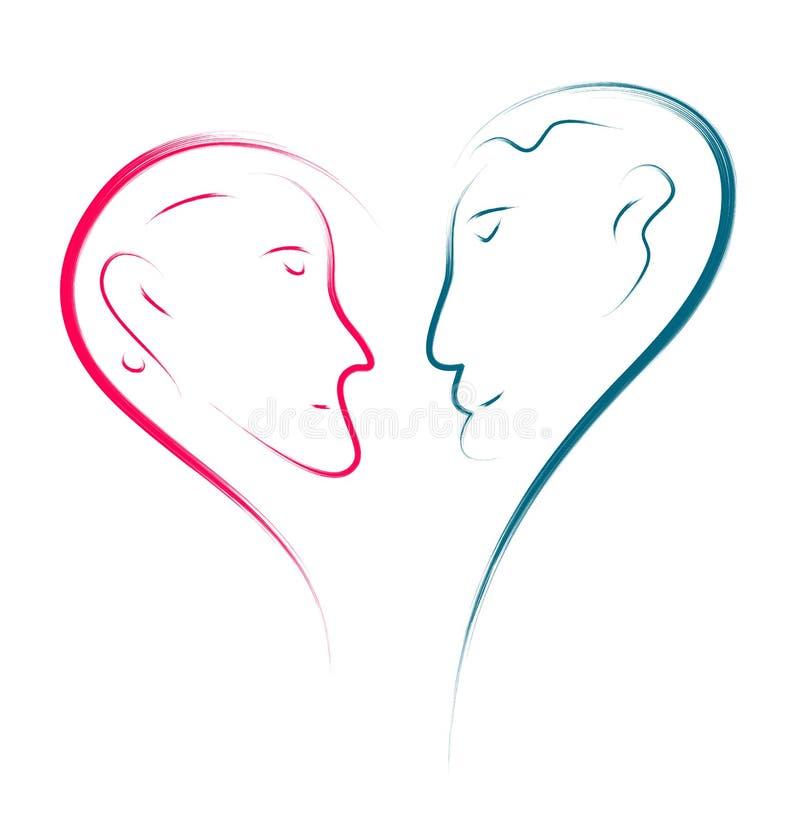 Förälskelseframsidor stock illustrationer