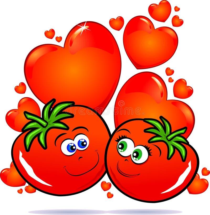 förälskelsegrönsaker stock illustrationer