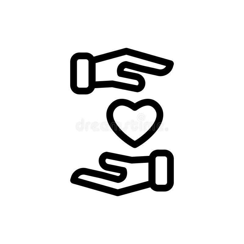 Förälskelsehandhjärta royaltyfri illustrationer