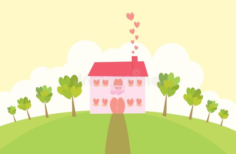 förälskelseherrgård royaltyfri illustrationer