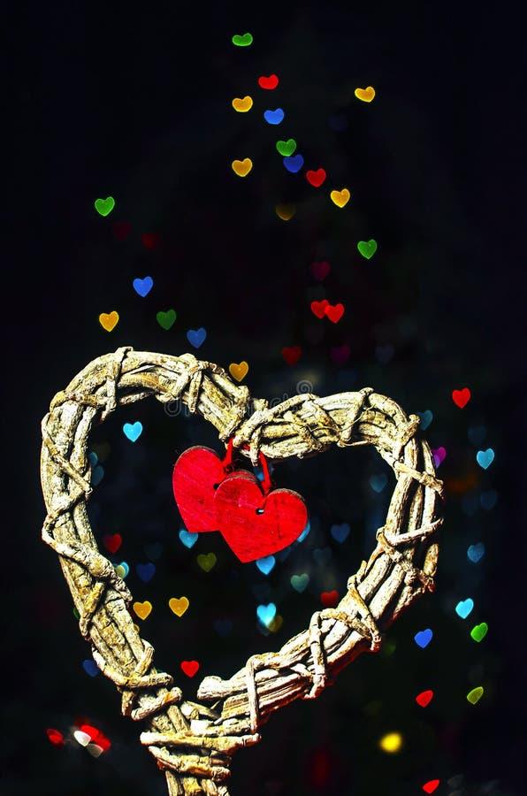 Förälskelsehjärtaformer royaltyfri bild