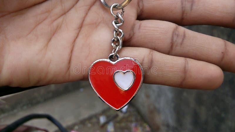 Förälskelsehjärtamedaljong arkivbild