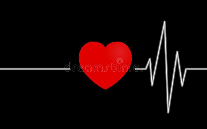 Förälskelsehjärtastryk vektor illustrationer