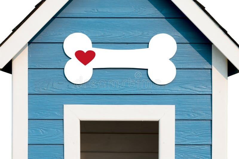 Förälskelsehundbegrepp för hundfamiljen för 4 kabel huset för vännen houses hyrda år royaltyfri foto