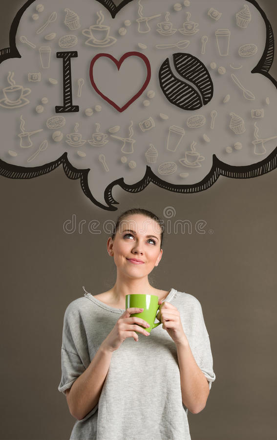 Förälskelsekaffe för begrepp I fotografering för bildbyråer