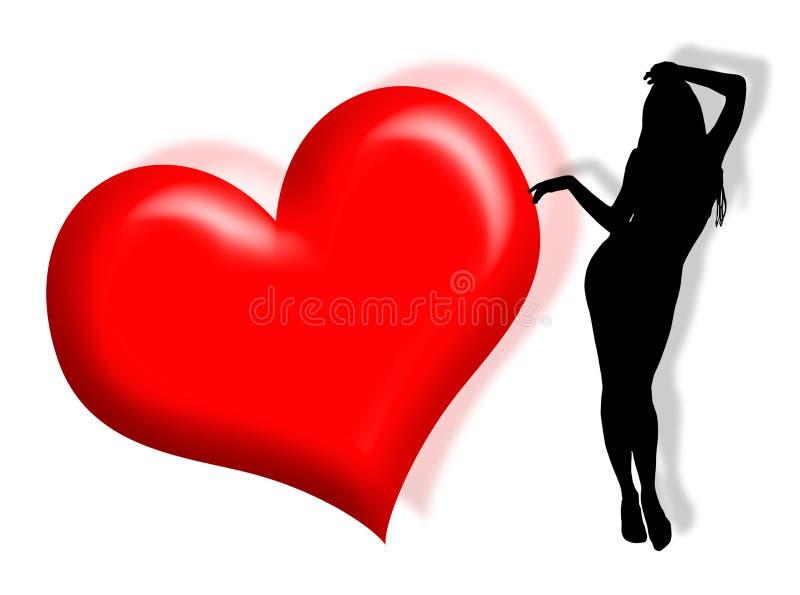 förälskelsekvinna vektor illustrationer