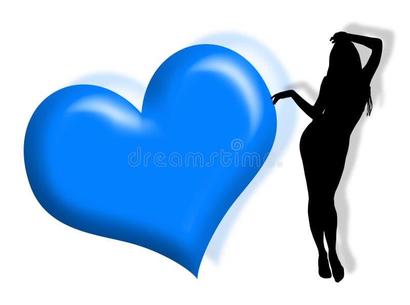 förälskelsekvinna royaltyfri illustrationer