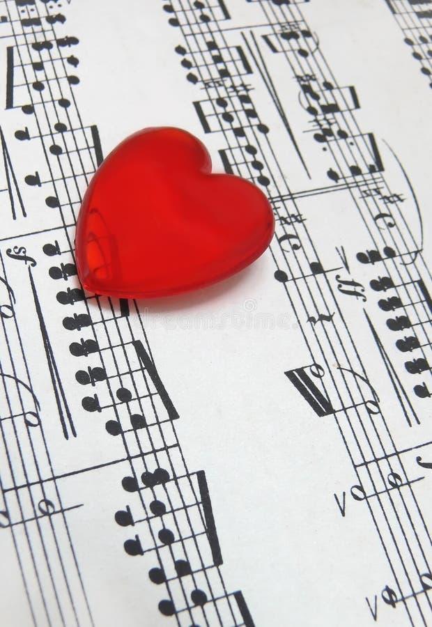 förälskelsemusik royaltyfria foton