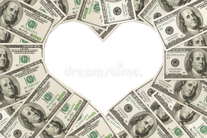 Förälskelsen av pengar royaltyfria foton